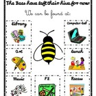 Where Are We? Bumble Bee Theme Classroom Sign