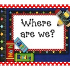 Where Are We? Classroom Specials/Schedule Poster