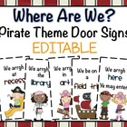 Where Are We? Pirate Theme Door Signs