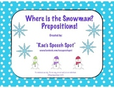 Where Is The Snowman?  Preposition Pack for Speech and Language