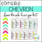 Where are We? Chevron Flair Classroom Door Hangers