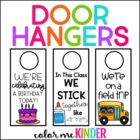 Where are We? Editable Classroom Door Hanger Kit