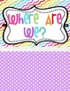 Where are we?? Classroom BRIGHT Polka Dot Set