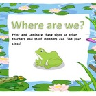 Where are we? Frog Theme