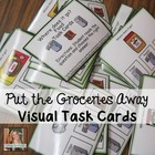 Where does the food go? Task Cards (Special Ed & Autism)
