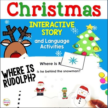 Where is Rudolph? Christmas Story, Verbs, Prepositions, Ca