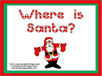 Where is Santa- Christmas Kindergarten Shared Reading PowerPoint