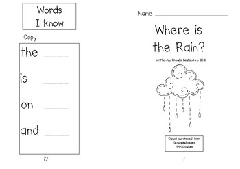 Where is the Rain? Emergent Reader.