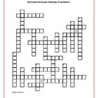 Where the Red Fern Grows: Analogy Crossword--48 Clues!