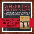Where the Red Fern Grows Literature Guide - Questions, Act