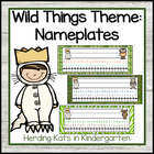 """Where the Wild Things Are"" Nameplates"