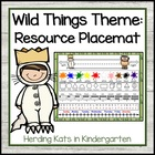 """Where the Wild Things Are"" Placemat"