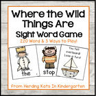 """Where the Wild Things Are"" Themed  Sight Word Game (Dolch"