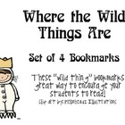 """Where the Wild Things Are"", by M. Sendak, Set of 4 Bookmarks"