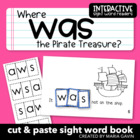 "Interactive Sight Word Reader ""Where was the Pirate Treasure?"""