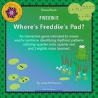 Where's Freddie's Pad? FREEBIE Rhythm (Eighth Notes) - PowerPoint
