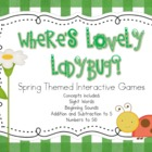 Where's Lovely Ladybug?  Spring Themed Interactive Games