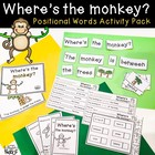 Where&#039;s the Monkey Positional Words Activity Pack