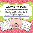 Where's the Piggy? A Positional Words Emergent Reader and