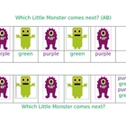 Which little monster comes next? Pattern Mats Center
