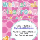 Whimsical Classroom theme pack {owls, birds, tress, fruits}