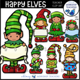 Christmas Elves and More Clip Art Bundle (50 files) Whimsy