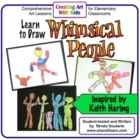 Whimsical People Art Lesson - Inspired by Keith Haring