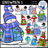 Whimsical Snowmen Clip Art Bundle (46 graphics) Whimsy Wor