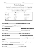 Whipping Boy Chapter Book Fill in the Sentence Activity Sh