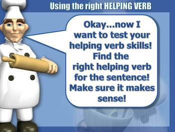 Whipping Up Some Helping Verbs - PPTX & Test Prep