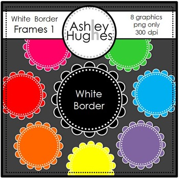 White Border Frames 1 {Graphics for Commercial Use}