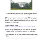 White House Virtual Scavenger Hunt