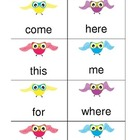 Who Can Read the Sight Words Game