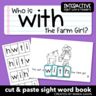 """Who Is with the Farm Girl?"" Interactive Sight Word Reader"