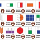 Who Knows Fraction Sorting Card Game - 1 and 1/2 Fractions