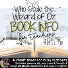 Who Stole the Wizard of Oz Book Info Sheet