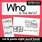 "Interactive Sight Word Reader ""WHO is the Hero?"""