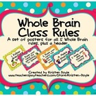 Whole Brain Class Rules Posters - Turquoise Dots
