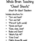 Whole Brain Teaching &quot;Cheat Sheet&quot;
