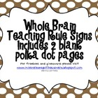 Whole Brain Teaching Classroom Rules Polka Dots