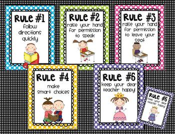 Whole Brain Teaching Classroom Rules Poster Set