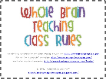 Whole Brain Teaching Rules with Clip Art