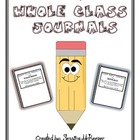 Whole Class Journals: Cover Labels