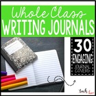 Whole Class Writing Journal Covers and Prompts