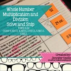 Whole Number Multiplication and Division Solve and Snip- C