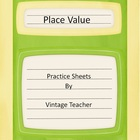 Whole Number Printables---Rounding, Place Value, Writing