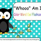 Whoo Knows Their Color Words?
