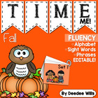 Whoo! Whoo!  Owl Alphabet, Word, and Phrase Fluency Station