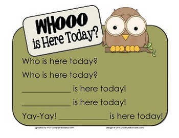 """Whooo"" Comes to Preschool- A Getting to Know You pack."