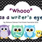 """Whooo"" has a writer's eye? Writing Posters"